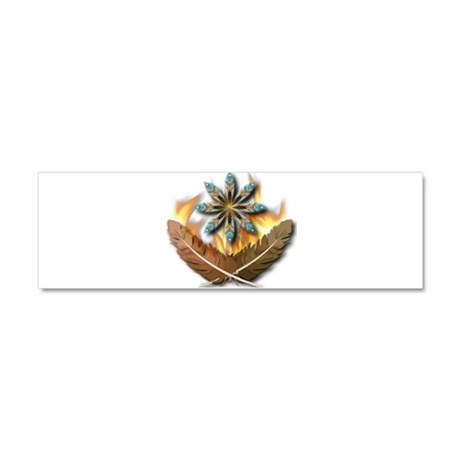 Native Feathers Car Magnet 10 x 3