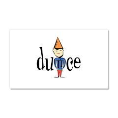 Dunce Car Magnet 20 x 12