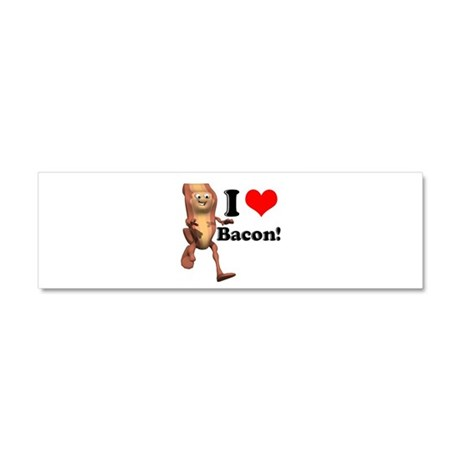 I Heart (Love) Bacon Car Magnet 10 x 3