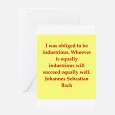 bach quotes Greeting Card