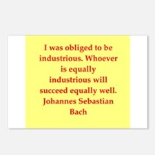 bach quotes Postcards (Package of 8)
