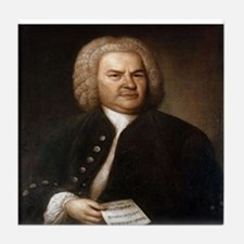 bach quotes Tile Coaster