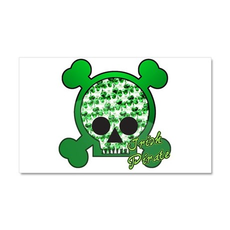 Irish Pirate Shamrock Skull C Car Magnet 20 x 12