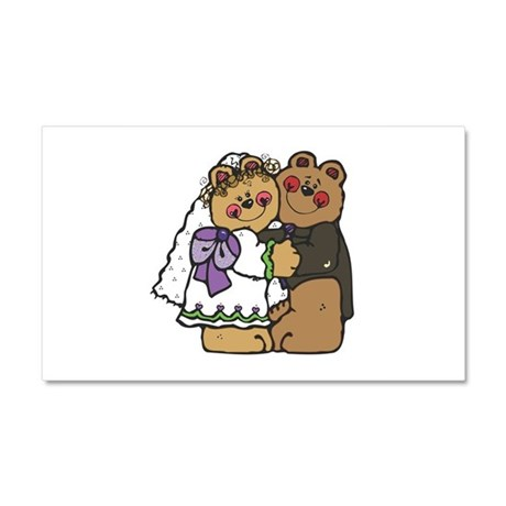 Country Style Bride and Groom Car Magnet 20 x 12