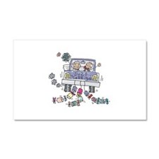 Just Married Car Car Magnet 20 x 12