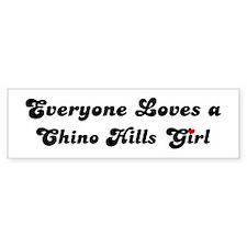 Loves Chino Hills Girl Bumper Bumper Sticker