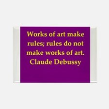 Debussy quote Rectangle Magnet