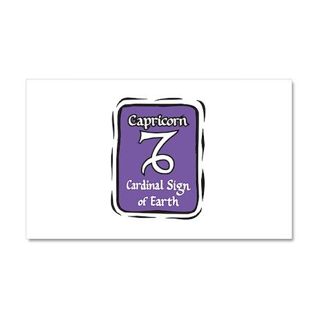 Capricorn Plaque Car Magnet 20 x 12