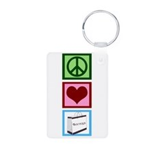 Peace Love Shop Keychains