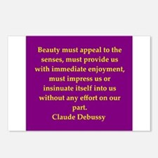 Debussy quote Postcards (Package of 8)