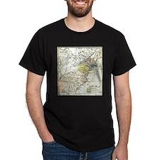 Colonial America Map T-Shirt