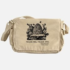 Latin Bees Proverb Messenger Bag