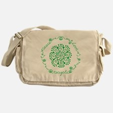 Tribal Peace Wreath Messenger Bag