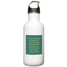 George Gershwin quotes Water Bottle