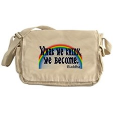 Rainbow Buddha Quote Messenger Bag