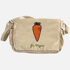 Go Vegan Messenger Bag