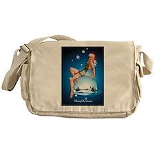Pinup Girl Christmas Messenger Bag