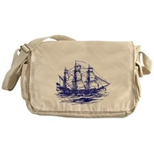 Vintage Clipper Ship Messenger Bag