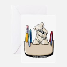 Wheaten Pocket Protector Greeting Card