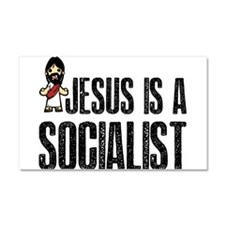 Jesus is a Socialist Car Magnet 20 x 12
