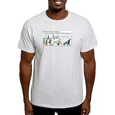 Superman on Ellis Island Light T-Shirt