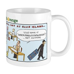 Superman on Ellis Island Mug