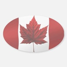 Canada Flag Decal Oval Canada Souvenir Decal