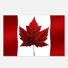 Canada Flag 8 Pk Souvenir Postcards (package Of 8)