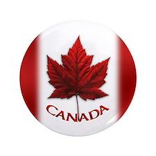 "Canada Flag 3.5"" Button Big Canada Buttons"