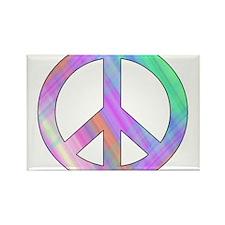 Pastel Peace Rectangle Magnet