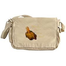 Blonde Pin-Up Messenger Bag