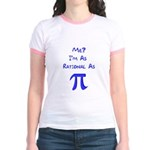 Rational As Pi Jr. Ringer T-Shirt