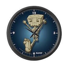 Mr. Bot Bones (Blue) Large Wall Clock