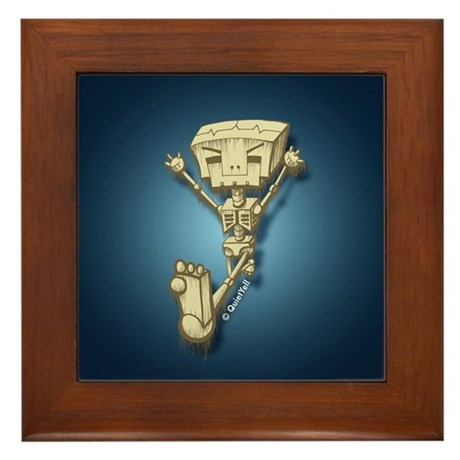 Mr. Bot Bones (Blue) Framed Tile