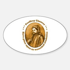 Chaucer Oval Decal