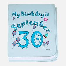September 30th Birthday baby blanket