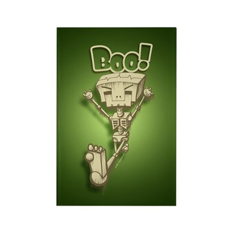 Mr. Bot Bones (Green) Rectangle Magnet