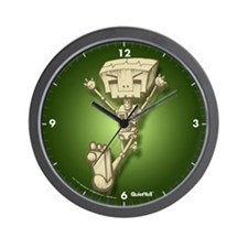 Mr. Bot Bones (Green) Wall Clock