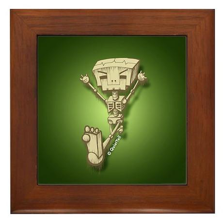 Mr. Bot Bones (Green) Framed Tile