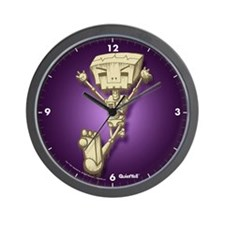 Mr. Bot Bones (Purple) Wall Clock