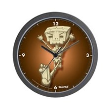 Mr. Bot Bones (Orange) Wall Clock
