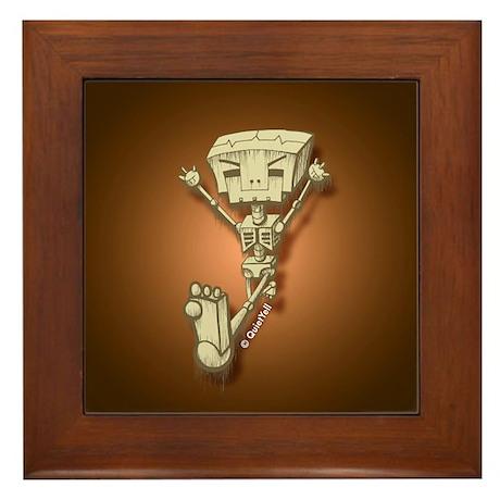 Mr. Bot Bones (Orange) Framed Tile