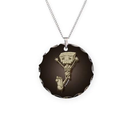 Mr. Bot Bones (Dark) Necklace Circle Charm