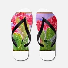 Cactus, Southwest, art, Flip Flops