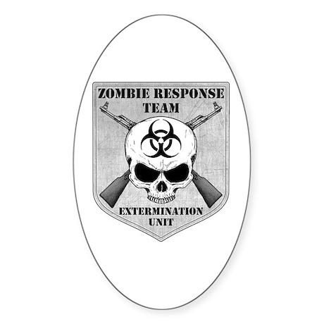 Zombie Response Team Sticker (Oval 10 pk)