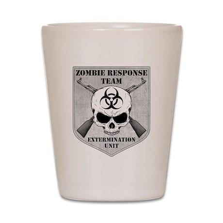 Zombie Response Team Shot Glass