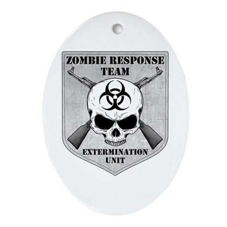 Zombie Response Team Ornament (Oval)