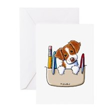 Brittany Pocket Protector Greeting Cards (Pk of 10