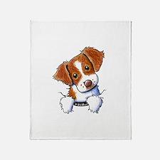 Pocket Brittany Throw Blanket