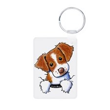 Pocket Brittany Aluminum Photo Keychain